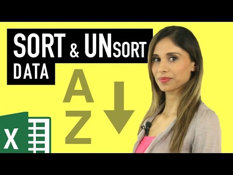 Excel Sort (by Value, Color, Icon, Own List) & How to Unsort