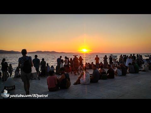 (4k) Amazing Sunset in Zadar, Croatia