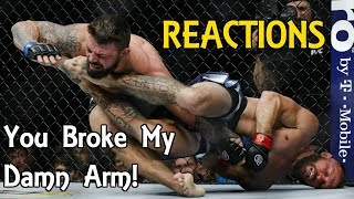 MMA Reacts to Donald Cerrone Submitting Mike Perry: You Broke My Damn Arm - UFC Denver