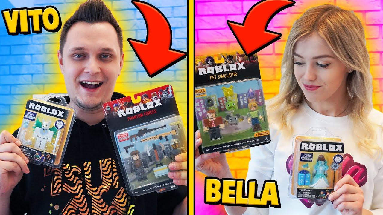 Otwieramy Nowe Figurki Z Roblox Challenge Vito Vs Bella的youtube