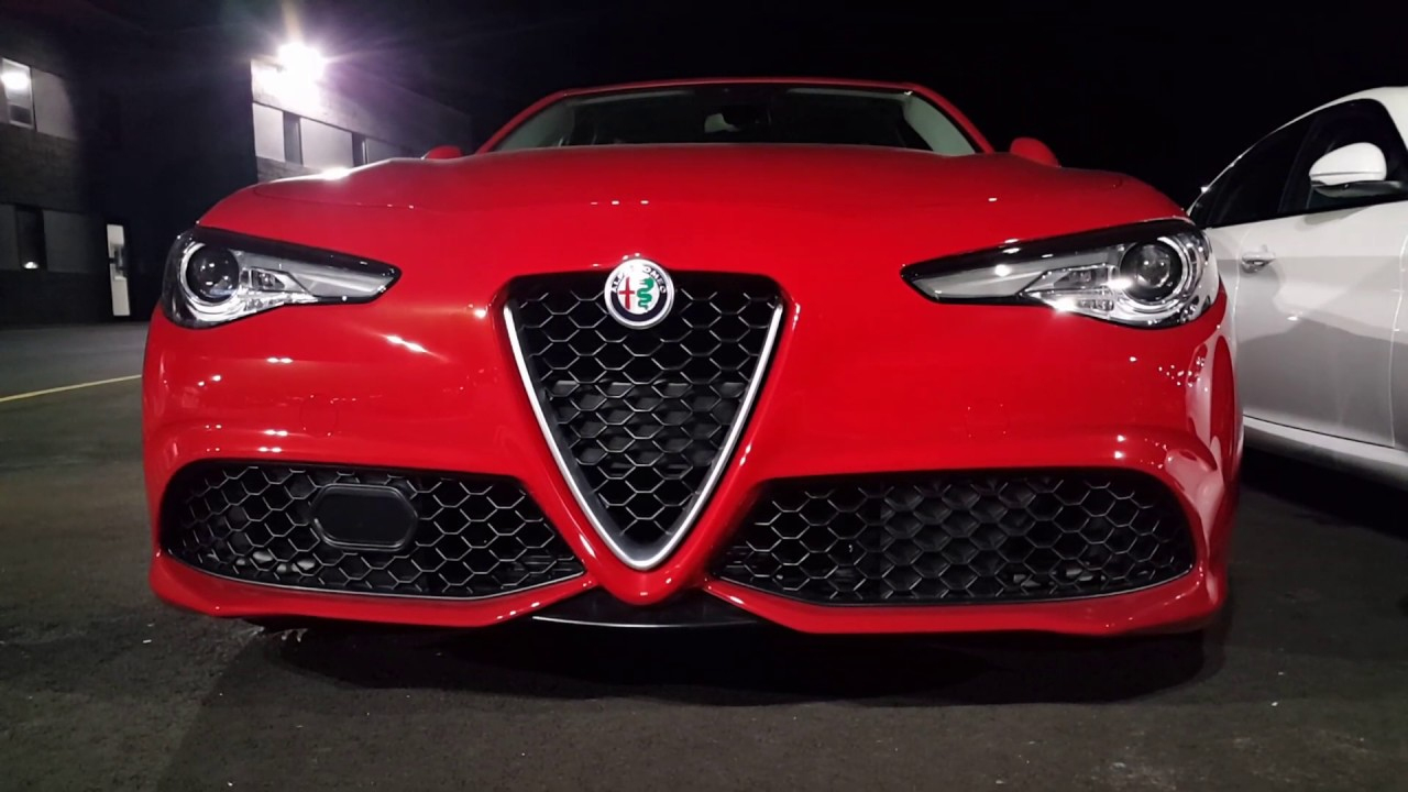 alfa romeo giulia red new jersey youtube. Black Bedroom Furniture Sets. Home Design Ideas