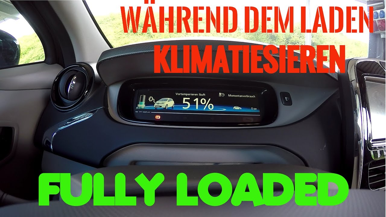 renault zoe klimaanlage w hrend dem laden fully. Black Bedroom Furniture Sets. Home Design Ideas
