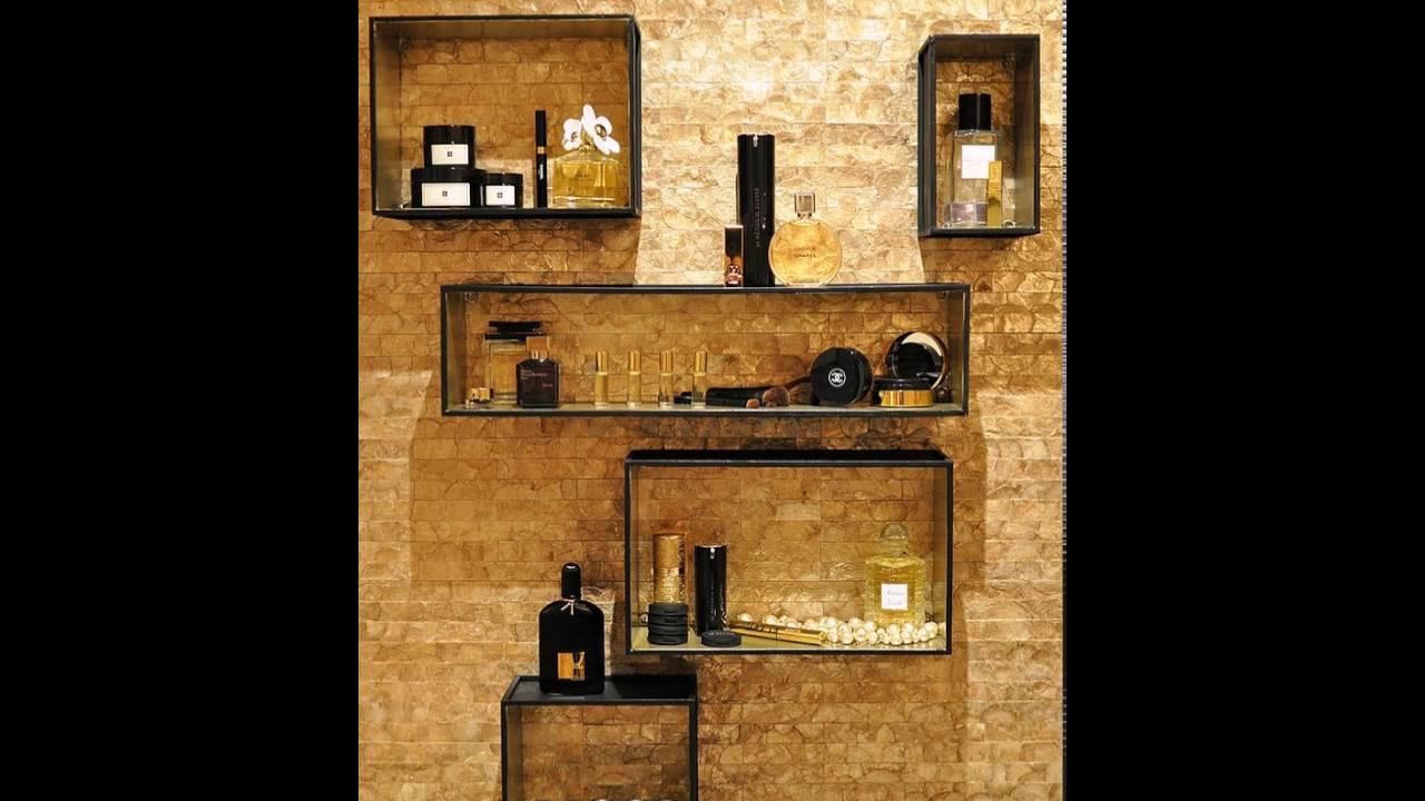 Gold Wandverkleidung Fügt Textur Zum Badezimmer Wand