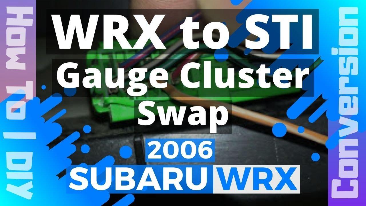 Subaru Legacy Ecu Wiring Diagram Pioneer Avh 280bt Sti Gauge Cluster Swap Youtube Premium