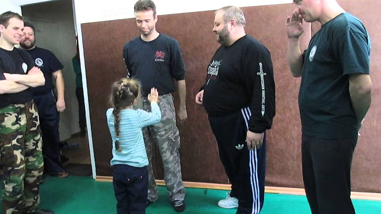 Mikhail Ryabko explains a Systema sensitivity exercise. Russian Martial Art Systema.