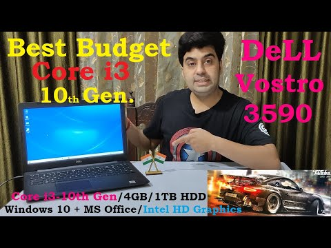 Best budget 10th Gen Core i3 Dell Vostro 3590 with 4GB 1TB  Win10 Intel HD Graphic Unboxing & Review