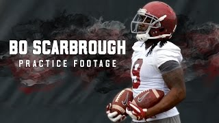 Watch footage of Bo Scarbrough on day 1 of Alabama spring practice