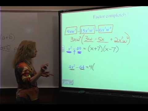 College Algebra: Review 2 - Factoring Polynomials