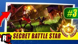 Secret Battle Star Location WEEK 3 Fortnite | Season 6 Hunting Party (Secret Battle Stars/Banners)