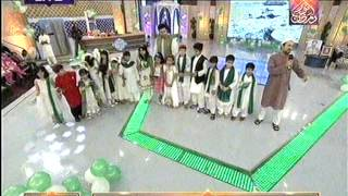 Raheem Shah Singing Maa mujhko jhulao at Noor e Ramazan HUM TV 15 July 2015