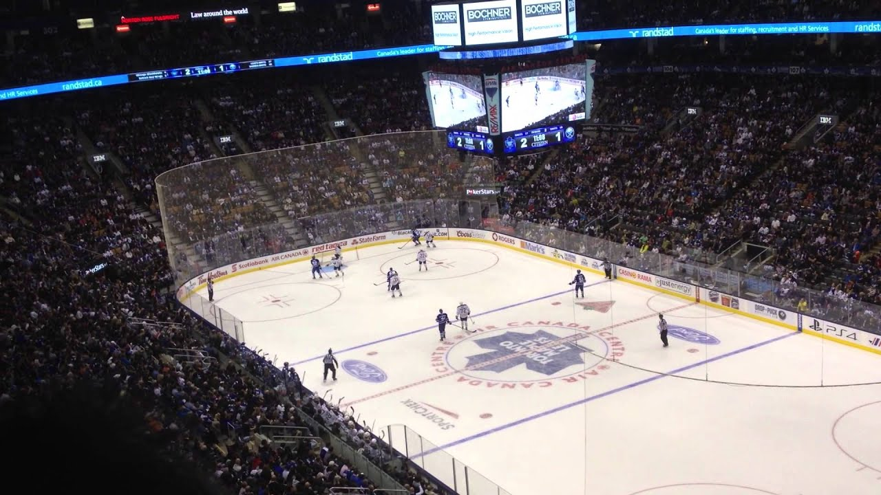 Some Hockey At Air Canada Center Youtube