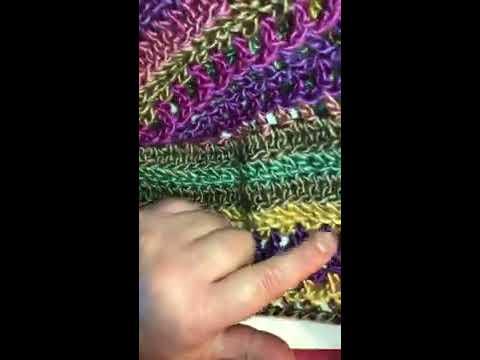 Beginner Crochet Shawl Pattern Part 1 of 2