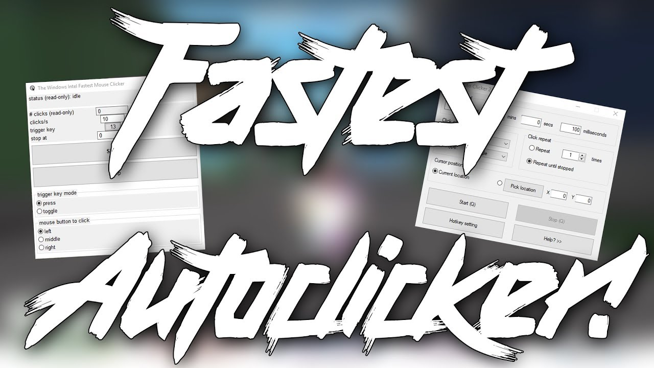 How To Get The Fastest Autoclicker Ever Youtube