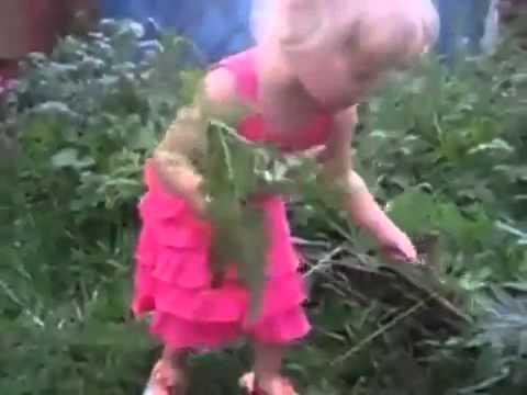 Маленькая девочка ругается матом