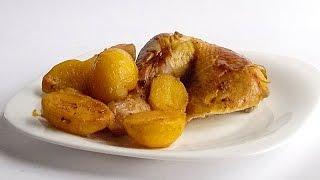 Ароматная Курица с Картошкой в Мультиварке кулинарный видео рецепт