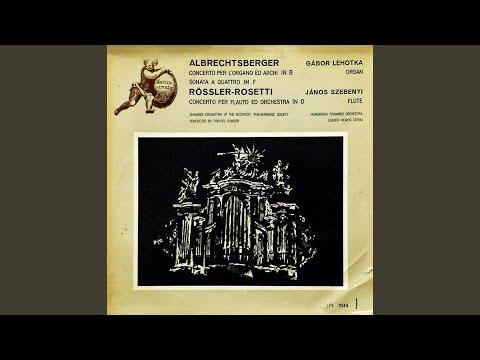 Concerto per l'Organo ed Archi in B II. Adagio