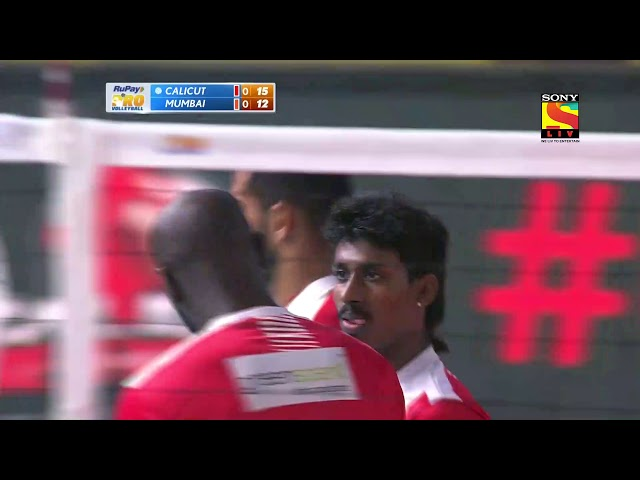 Semifinal 1 - Calicut Heroes vs U Mumba Volley - Calicut take first set