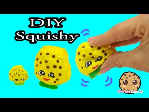 DIY Squishy Shopkins Season 1 Kooky Cookie Inspired Craft Do It Yourself - CookieSwirlC Video
