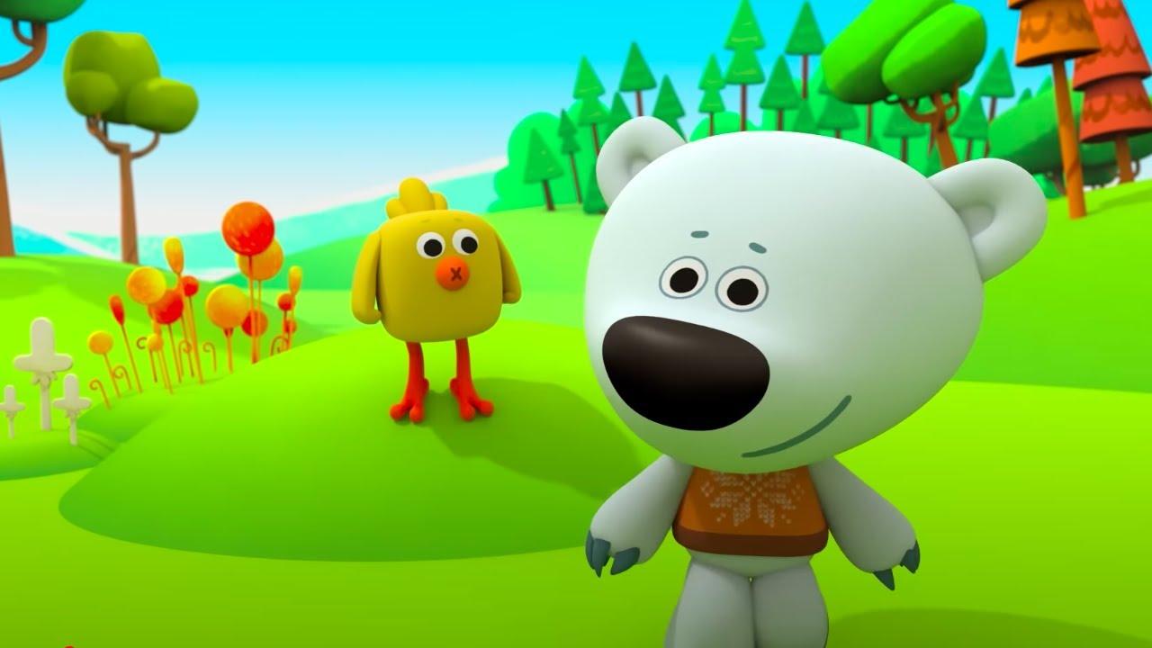 Мимимишки 🐻  Новые серии - 🍂 Ура, Осень! 🍄 Идем за грибами! 🦔 Мультик для детей