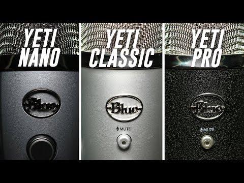 Blue Yeti Nano vs. Blue Yeti vs. Blue Yeti Pro Comparison (Versus Series)