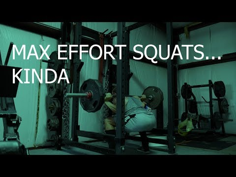 My workout split day 2Max effort lower body/ post injury squats