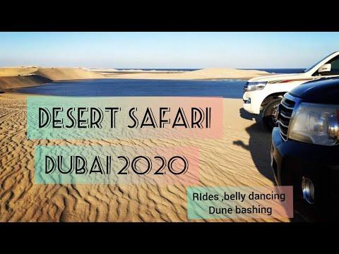 Desert Safari Dubai tour ~Rides ~Belly dancing ~Dune Bashing ~Fire works ~ Desert Drive 2020