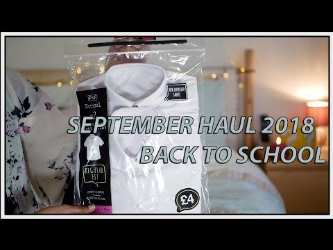 September Haul 2018 Back To School Autumn Matalan Zara