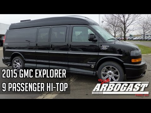 8ae45a51b9 2015 GMC Explorer Limited SE 9 Passenger Hi Top Conversion Van ...
