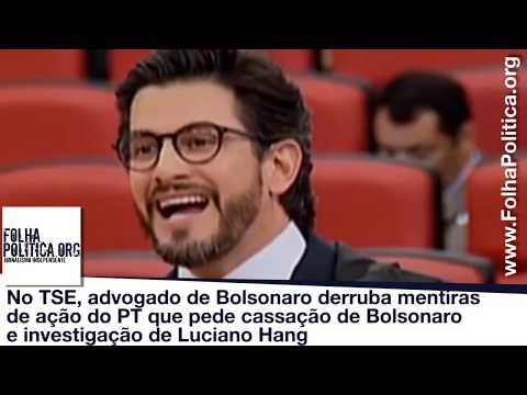 No TSE, advogado de Bolsonaro derruba mentiras de ação do PT que pede cassação de Bolsonaro e inve..