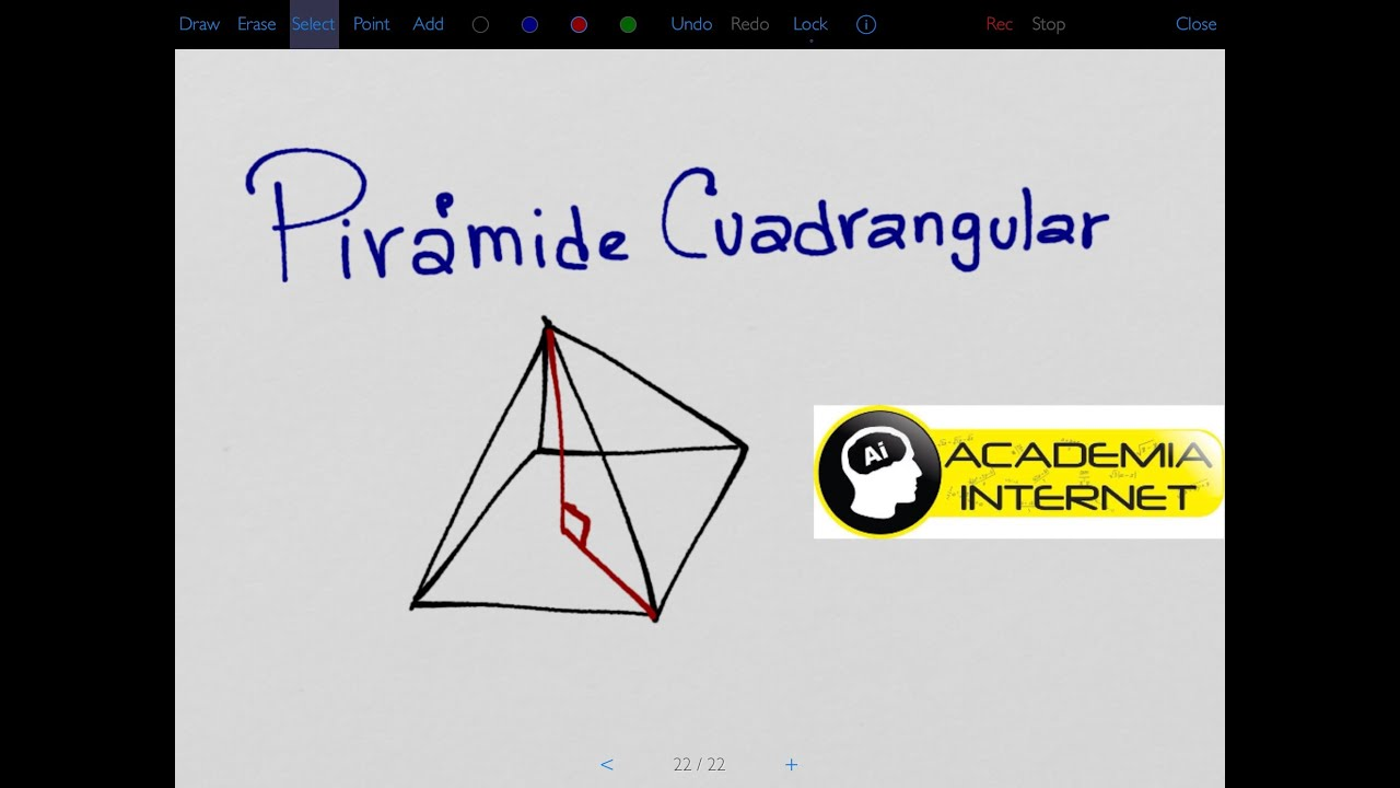 Piramide Base Cuadrada Arista Lateral En Una Pirámide Cuadrangular Youtube