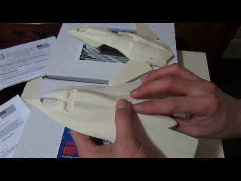 "FA-37 Talon and EDI UCAV (1/72 Scale Resin Model Build)""BIM+DIM"""