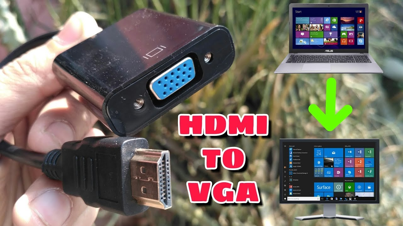 Only 100 Rs Hdmi To Vga Converter Or Adoptor Cable Without Audio Cabel In Hindi