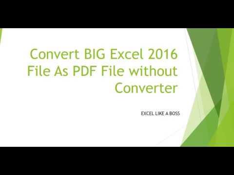 online pdf to excel conversion big files