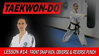 Front Snap Kick, Obverse & Reverse Punch - Taekwon-Do Lesson #14