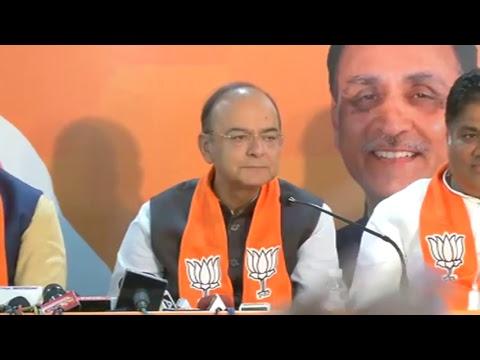 Joint Press Conference by Shri Arun Jaitley, Shri Bhupendra Yadav & Shri Jitu Vaghani in Gujarat