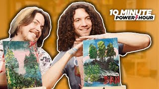 Following a BOB ROSS Tutorial! - Ten Minute Power Hour