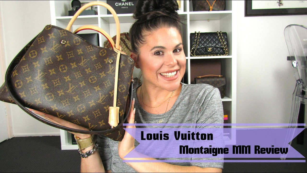 ca9b2cfd41 Louis Vuitton Montaigne MM Review 2015 - YouTube