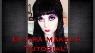 elvira makeup tutorial for halloween by cherry dollface