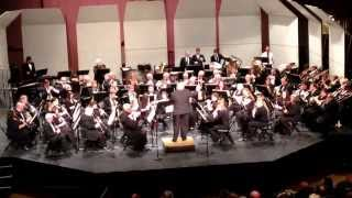 Southwestern Ohio Symphonic Band 3/16/14 Nick Dadabo conducting Wagner's Huldigungsmarsche