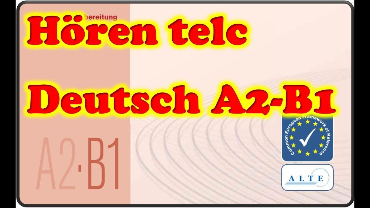 Modelltest A2 B1 Hören Deutsch 14012019 Youtube