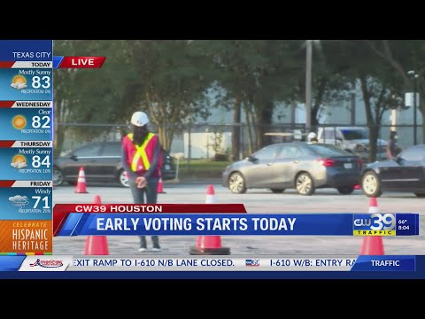 Drive Thru voting at the Houston Food Bank