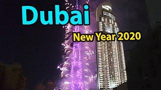 Dubai UAE New Year 2020 The firework from Burj Khalifa