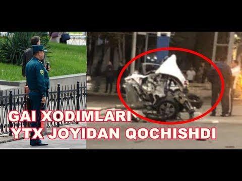 GAI XODIMLARI AVARIYA JOYIDAN QOCHISHDI