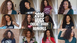 HUGE 2019 CROCHET BRAIDS RANKED| FREETRESS ,MANE CONCEPT,  OUTRE AND MORE| LIA LAVON