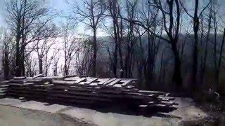 Дорога от дома на центральный пляж Черного моря Туапсе(Вышли из дома и пешком шли на центральный пляж. Черное море в феврале и теперь уже наш город Туапсе., 2016-02-22T13:52:48.000Z)