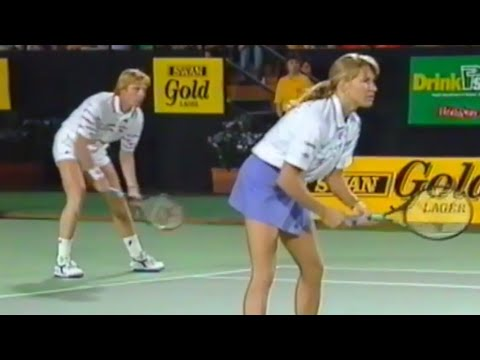 1992 Hopman Cup SF Highlights - Boris Becker & Steffi Graf