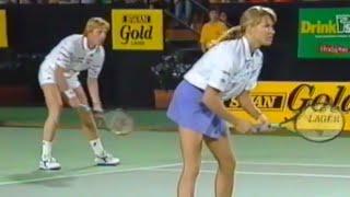 1992 Hopman Cup SF Highlights - Boris Becker & Steffi Graf