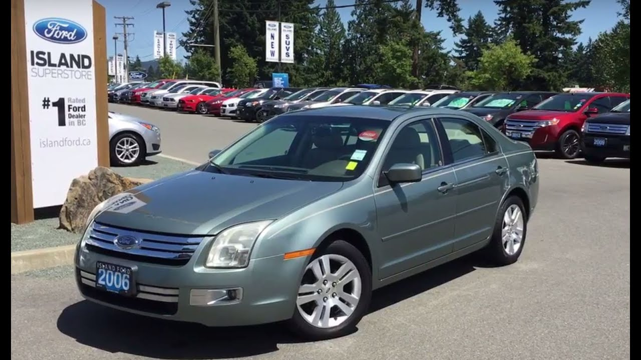 2006 ford fusion sel w heated leather seats review island ford