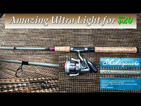 Shakespeare Micro Series Rod Review | Great Ultra Light For Crappie, Trout, Panfish