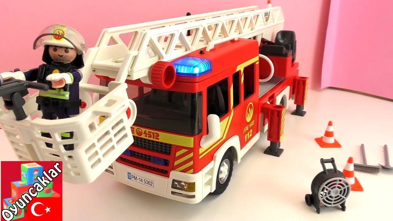 Playmobil Türkçe 5362 Büyük Itfaiye Arabası Ateş Söndürme Oyuncak
